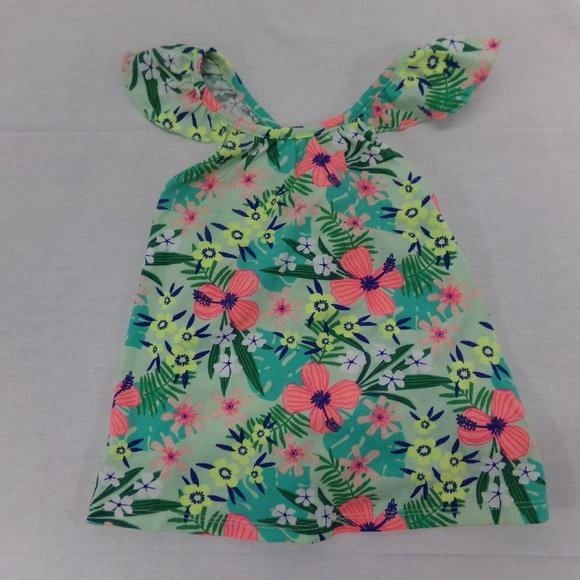 Cat & Jack Girls Cold Shoulder Floral Top 4T NWT